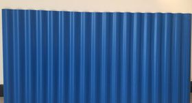 PVC蓝色小波浪塑钢瓦